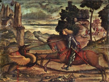 dragon Painting - St George and the Dragon 1516 Vittore Carpaccio