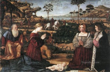 Donor Works - Holy Family with Two Donors Vittore Carpaccio