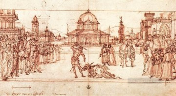 drawing Oil Painting - The Triumph of St George drawing Vittore Carpaccio