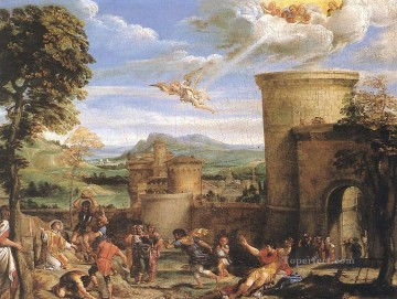 The Martyrdom of St Stephen Baroque Annibale Carracci Oil Paintings