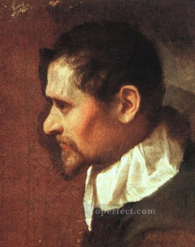 Self Portrait in Profile Baroque Annibale Carracci Oil Paintings
