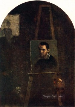 Carracci Deco Art - Self portrait Baroque Annibale Carracci
