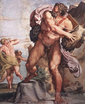 Carracci Deco Art - The Cyclops Polyphemus Baroque Annibale Carracci