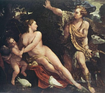 Venus and Adonis Baroque Annibale Carracci Oil Paintings