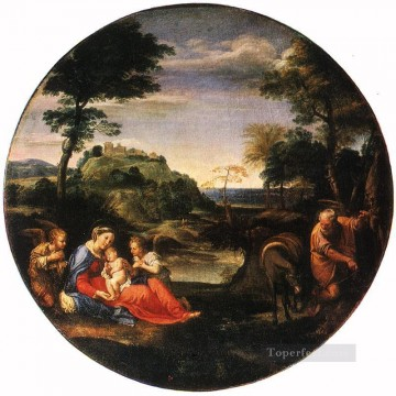Carracci Deco Art - Rest on Flight into Egypt Baroque Annibale Carracci