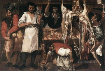 Butchers Shop Baroque Annibale Carracci Oil Paintings