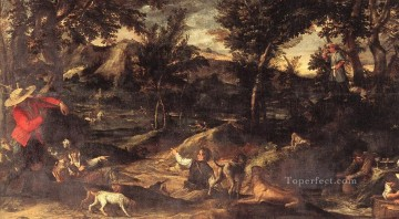 hunting Canvas - Hunting Baroque Annibale Carracci