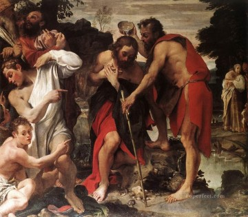 The Baptism of Christ Baroque Annibale Carracci Oil Paintings