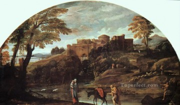 The Flight into Egypt Baroque Annibale Carracci Oil Paintings