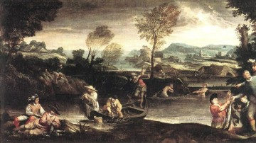 Fishing Baroque Annibale Carracci Oil Paintings