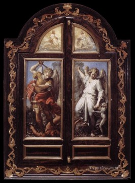 Triptych2 Baroque Annibale Carracci Oil Paintings