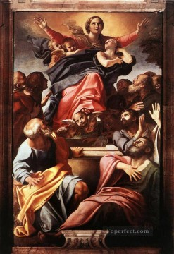 Virgin Painting - Assumption of the Virgin Mary Baroque Annibale Carracci