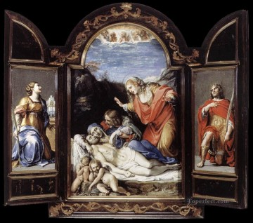 Triptych1 Baroque Annibale Carracci Oil Paintings