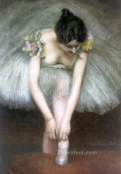 1896 Oil Painting - Before the Ballet 1896 ballet dancer Carrier Belleuse Pierre