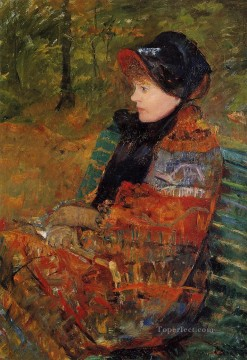 Mary Cassatt Painting - Autumn aka Profile of Lydia Cassatt mothers children Mary Cassatt