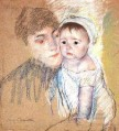 Baby Bill in Cap and Shift mothers children Mary Cassatt