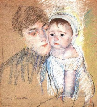 Baby Bill in Cap and Shift mothers children Mary Cassatt Oil Paintings