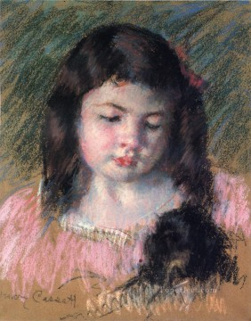 Mary Cassatt Painting - Bust of Francoise Looking Down mothers children Mary Cassatt