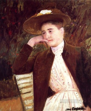 Mary Cassatt Painting - Celeste in a Brown Hat mothers children Mary Cassatt