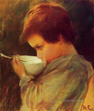 drinking - Child Drinking Milk mothers children Mary Cassatt
