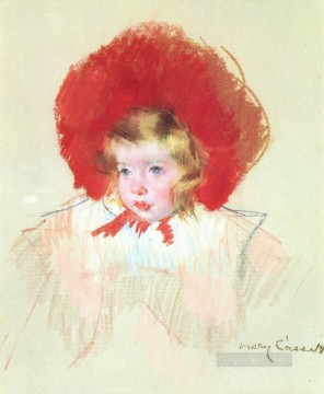 Mary Cassatt Painting - Child with a Red Hat mothers children Mary Cassatt