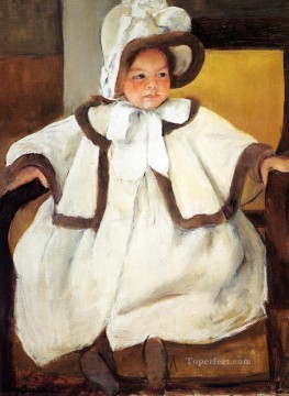 Mary Cassatt Painting - Ellen Mary Cassatt In A White Coat mothers children Mary Cassatt