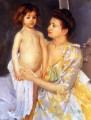 Jules Being Dried by His Mother mothers children Mary Cassatt