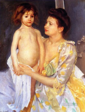 Mary Cassatt Painting - Jules Being Dried by His Mother mothers children Mary Cassatt