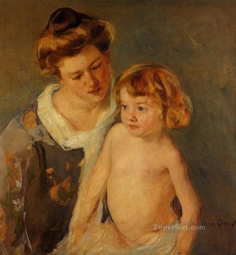 Jules Standing by His Mother mothers children Mary Cassatt Oil Paintings