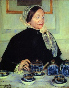 Mary Cassatt Painting - Lady at the Tea Table mothers children Mary Cassatt