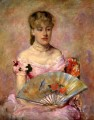 Lady with a Fan aka Portrait of Anne Charlotte Gaillard mothers children Mary Cassatt