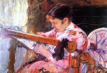 Mary Cassatt Painting - Lydia at the Tapestry Loom mothers children Mary Cassatt