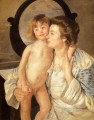 Mother And Child The Oval Mirror mothers children Mary Cassatt