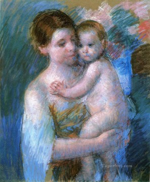 Mary Cassatt Painting - Mother Holding Her Baby mothers children Mary Cassatt