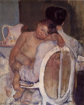 Mother Holding a Child in Her Arms mothers children Mary Cassatt Oil Paintings