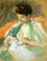 Mother Rose Nursing Her Child 亲情 玛丽·卡萨特