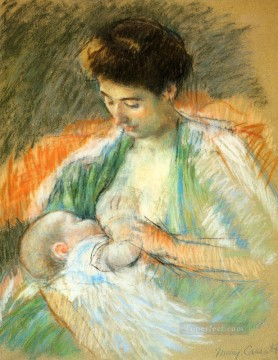 rose roses Painting - Mother Rose Nursing Her Child mothers children Mary Cassatt