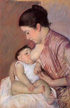 Mary Cassatt Painting - Motherhood mothers children Mary Cassatt