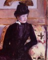 Mrs Gardner Cassatt in Black 亲情 玛丽·卡萨特