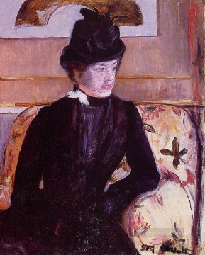 Mary Cassatt Painting - Mrs Gardner Cassatt in Black mothers children Mary Cassatt