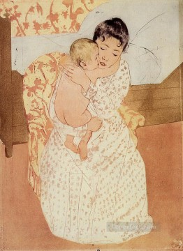 Mary Cassatt Painting - Nude Child mothers children Mary Cassatt