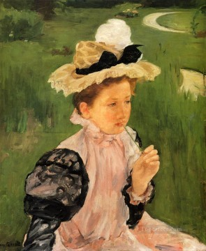 Mary Cassatt Painting - Portrait Of A Young Girl mothers children Mary Cassatt