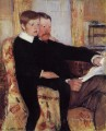肖像 Alexander J Cassat and His Son Robert Kelso Cassatt 亲情 玛丽·卡萨特