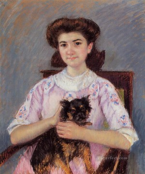 Mary Cassatt Painting - Portrait of Marie Louise Durand Ruel mothers children Mary Cassatt