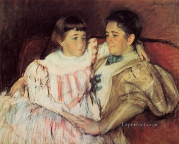 Mary Cassatt Painting - Portrait of Mrs Havemeyer and Her Daughter Electra mothers children Mary Cassatt