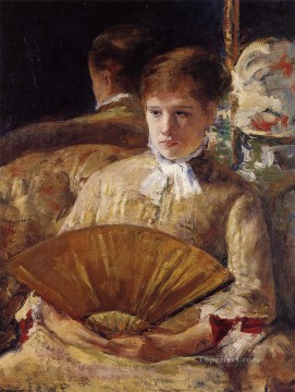 Mary Cassatt Painting - Portrait of a Lady aka Miss Mary Ellison mothers children Mary Cassatt