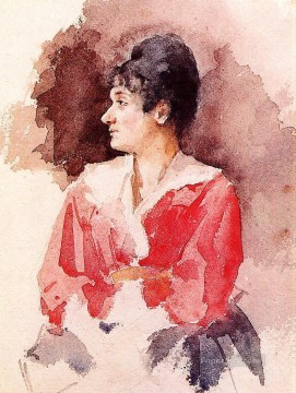 Mary Cassatt Painting - Profile of an Italian Woman mothers children Mary Cassatt