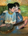 The Banjo Lesson mothers children Mary Cassatt