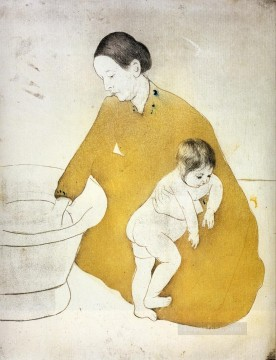 Mary Cassatt Painting - The Bath 1891 mothers children Mary Cassatt