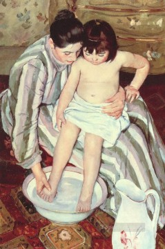 Mary Cassatt Painting - The Bath mothers children Mary Cassatt